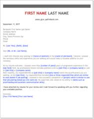 cover letter templates get the with free professional cover letter templates