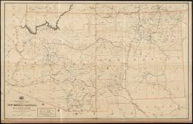 Map Of Arizona And New Mexico by Post Route Map Of The Territories Of New Mexico And Arizona With
