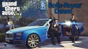 roll royce gta gta 5 car mods rolls royce dawn cinematic showcase youtube