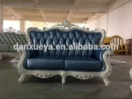 Blue Leather Sofa by Blue Genuine Leather Sofa Glossy White Silver Gilded Sofa Luxury