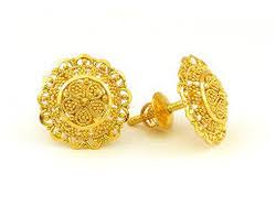 gold earrings tops tops gold earrings gold gold jewellery y k sons in namak