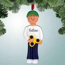 ornaments fidget spinner boy personalized free
