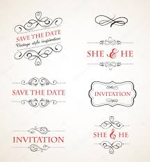wedding invitations vector vintage wedding invitations vector set stock vector marish
