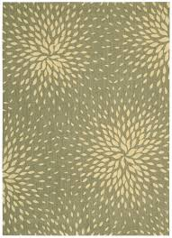 Designer Wool Area Rugs Capri Collection Wool And Viscose Area Rug In Light Green Design