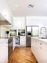 Small Kitchen Appliances Garage With Tiled Backsplash by Corner Appliance Garage Ideas Houzz