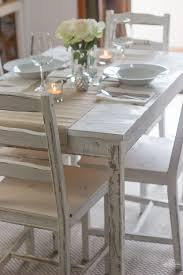 pictures of painted dining room tables distressing with chalk paint ikea table and chairs makeover