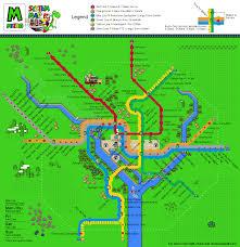 Map Of Dc Metro Super Mario World Dc Metro Map Yum Yum Matt