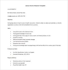 Sample Resume For Applying Ms In Us by Doctor Resume Template U2013 16 Free Word Excel Pdf Format Download