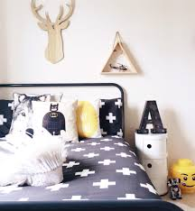 black and white kids bedroom boys bedroom deer wolf lego