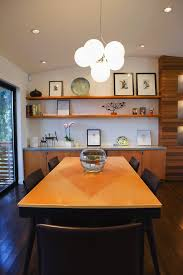 Dining Room Recessed Lighting Built In Credenza Dining Room Modern With Wall Shelves Cone