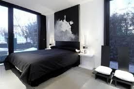 deco chambre lit noir déco noir et blanc chambre à coucher 25 exemples élégants