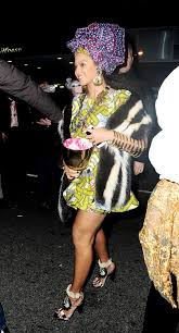 halloween event nyc beyonce arrives at halloween parade at charlie bird restaurant in