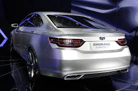 geely geely u0027s emgrand concept aims at bmw u0027s 3 series at shanghai