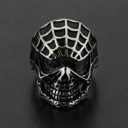 crucible stainless steel spider web skull ring 28mm walmart com