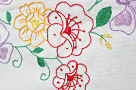 Rosy Lemmons Crafts Embroidered Tablecloth - Table cloth design