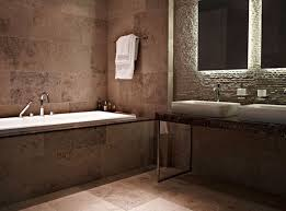 simple natural stone bathroom wall tiles with small home interior