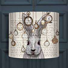 alice and wonderland home decor alice in wonderland white rabbit lampshade by fabfunky home decor
