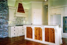 cool two tone country kitchen cabinets in white and natural wood