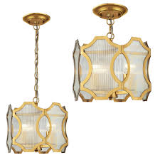 Pendant Ceiling Lights by Elk 31466 3 Benicia Contemporary Antique Gold Leaf Ceiling