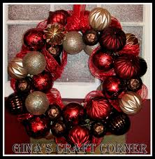 Homemade Christmas Wreaths by Gina U0027s Craft Corner How To Make A Christmas Ball Wreath With A