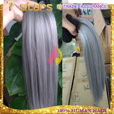 grey hair extensions top quality white hair extensions grey 8 30 inch silk