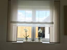 Bad Gardinen Taupe Mit Weiß Und Spitze Gardinen Store Große Fenster