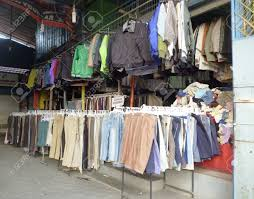 used clothing stores used clothing stores in semarang indonesia stock photo picture