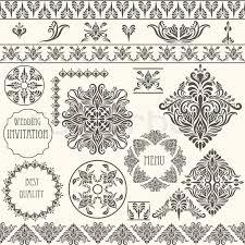 vintage design vector vintage design elements stock vector colourbox