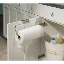 cabinet paper towel holder interdesign axis over the cabinet paper towel holder walmart com