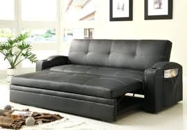 coaster faux leather convertible sofa bed with removable armrests