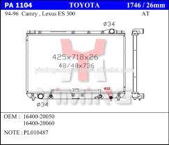 lexus lx450 parts diagram radiator for lexus radiator for lexus suppliers and manufacturers