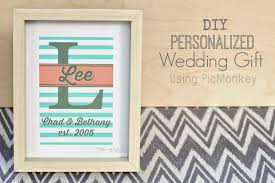 wedding gift diy pitterandglink diy personalized wedding gift using picmonkey