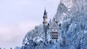 frozen neuschwanstein castle wallpapers 2560x1440 full hd windows