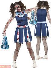 Dead Cheerleader Halloween Costume Girls Zombie Costume Ebay
