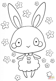 kawaii bunny coloring page free printable coloring pages