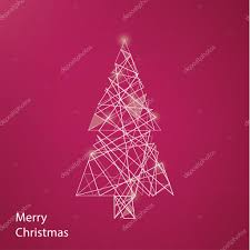 vector outline christmas tree modern christmas background with