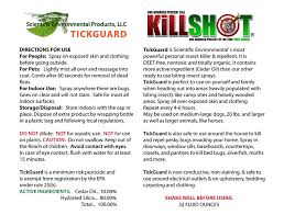 Killing Bed Bugs In Clothes Tickguard Extra Strength Scientific Environmental