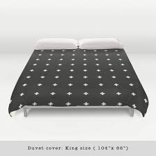 swiss cross black and white duvet cover u2013 latte design