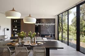Dining Room Pendant Light Fixtures Cool Modern Pendant Light Wood And Aluminum L Black White