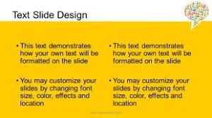 chat bubble yellow widescreen powerpoint template background in