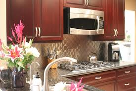 what backsplash looks with cherry cabinets kitchen backsplash ideas with cherry cabinets home decor