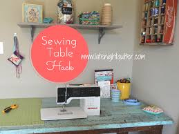 how to make a drop in sewing table stephanie palmer shows you how to hack an old table to make a drop