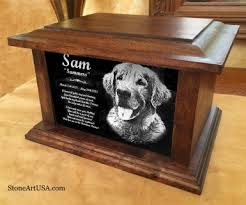 cremation urns for pets custom made cremation urns for pets oak and laser etched granite