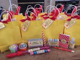 personalized party favor bags troline party favor bags idea bubbles gum