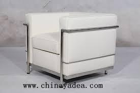 Armchair Sofa Le Corbusier Lc2 Leather Armchair Sofa Reproduction Cf009 Chairs Yadea