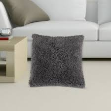 housse de coussin de canapé taie d oreiller housse coussin peluche polyester gris cendré with