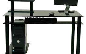 Glass Top Desk With Keyboard Tray Desk Desk With Keyboard Tray Awesome Desk With Keyboard Tray