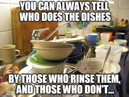 Dishes Meme - i ve noticed the one who don t do the dishes never rinse them grrrrr