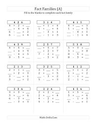collections of printable addition facts worksheet bridal catalog