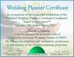 wedding planner certification event planning certification best template idea